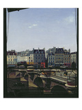 View of the Pont Neuf, c.1845 Giclee Print by Joseph Eusebie Prevot