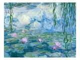 Waterlilies, 1916-19 (Detail) Giclée-Premiumdruck von Claude Monet