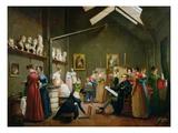Interior of Alexandre Denis Abel De Pujol's (1787-1861) Studio Giclee Print by Adrienne-marie Grandpierre-deverzy