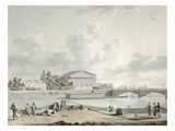 The Pont De La Concorde and the Facade of the Corps Legislatif, C.1809 (W/C on Paper) Giclee Print by Felice Marie Ferdinand Storelli
