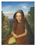A Girl, 1861 (Oil on Panel) Giclee Print by Edward Thompson Davis