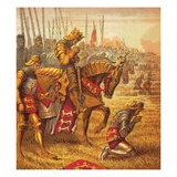 The Battle of Agincourt Giclee Print by  English