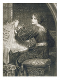 Penelope, Engraved by Norman Hirst (1862-C.1955) Pub. by Frost and Reed, 1903 (Mezzotint) Giclee Print by Frank Bernard Dicksee