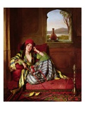Favourite of the Harem (Oil on Canvas) Reproduction procédé giclée par John Frederick Lewis