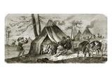 Tunguse Encampment Giclee Print by  English