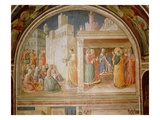 St.Stephen Preaching and St.Stephen Addressing the Council (Fresco) Giclee Print by Fra Angelico