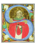 Historiated Initial 's' Depicting St. Julian (Vellum) Giclee Print by  Master of San Michele of Murano