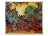 The Artist's House from the Rose Garden, 1922-24 Giclée-tryk af Claude Monet