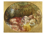 The Bracelet, Exhibited 1871 Giclee Print by Alfred Joseph Woolmer