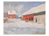 Norway, Red Houses at Bjornegaard, 1895 Giclee Print by Claude Monet