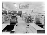 Tills, Woolworths Store, 1956 (B/W Photo) Giclee Print by  English Photographer