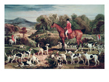 Ralph Lambton and His Hounds Giclee Print by James Ward