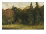 Startled Foresters, 1874 (Oil on Canvas) Giclee Print by Richard Redgrave