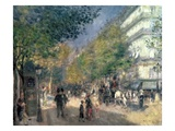 The Boulevards (Les Grands Boulevards), 1875 Giclee Print by Pierre Auguste Renoir