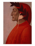 Portrait of Dante Giclee Print by Sandro Botticelli