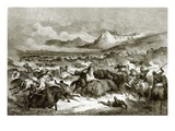 Buffalo Hunting Among the Delawares Giclee Print by  English