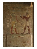 Chapel of Anubis, Mortuary Temple of Hatshepsut (C.1503-1482 BC) New Kingdom (Painted Limestone) Premium Giclee Print by  Egyptian 18th Dynasty