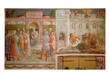 St.Lawrence before Decius and the Martyrdom of St.Lawrence Giclee Print by  Fra Angelico