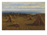 Cornstooks, Berwick Beyond, 1888 Giclee Print by Joseph Moseley Barber