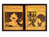 34:The Yellow Book, Published by Lane, Volumes 1 and 2, 1894, Covers Giclee Print by Aubrey Beardsley