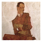 Arthur Roessler, 1910 Giclee Print by Egon Schiele