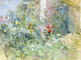 The Garden at Bougival, 1884 Gicléetryck av Berthe Morisot