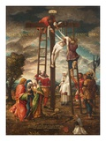 Descent of the Cross (Oil on Panel) Giclee Print by Hans Muelich Or Mielich