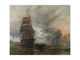 The Phantom Ship (Oil on Canvas) Giclee Print by William Lionel Wyllie