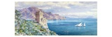 The Old Watch Tower Overlooking the Bay of Salerno, C.1861 (W/C and Gouache) Giclee Print by Frederick Townsend