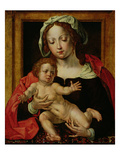 Virgin and Child (Oil on Panel) Giclee Print by Jan Gossaert