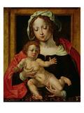 Virgin and Child (Oil on Panel) Giclee Print by Jan Gossaert
