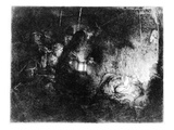 The Adoration of the Shepherds, C.1652 (Etching) Premium Giclee Print by  Rembrandt van Rijn