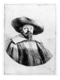 Samuel Manasseh Ben Israel, 1636 (Etching) Giclee Print by Rembrandt van Rijn 