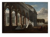 View of a Palace (Oil Oncanvas) Giclee Print by Jacobus Saeys