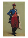 Portrait of Claude Monet (1840-1926) in Uniform, 1861 Giclee Print by Charles Marie Lhuillier
