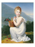 Young Girl Eating Cherries Giclee Print by Jeanne-Elisabeth Chaudet
