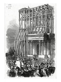 Arrival of the Wellington Statue at the Arch, Published in 'The Illustrated London News' Giclee Print by Ebenezer Landells