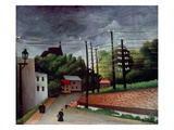 View of Malakoff, Hauts-De-Seine, 1908 Giclee Print by Henri J.F. Rousseau