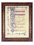 Gradual, Featuring Historiated Initial 'I' Depicting Saint John the Evangelist, C.1315 (Vellum) Giclee Print by Florentine