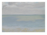 Study of Sky and Sea, 1924 (Oil on Paper) Giclee Print by Herbert Dalziel