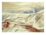 Hot Springs of Gardiner's River, Yellowstone, 1872 (W/C on Paper) Giclee Print by Thomas Moran