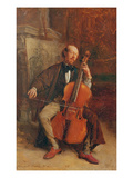 Alexandre Batta, the Cellist, 1855 (Oil on Canvas) Giclee Print by Jean-Louis Ernest Meissonier