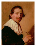 Portrait of Jean De La Chambre at the Age of 33, 1638 (Oil on Panel) Giclée-Druck von Frans Hals