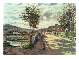 The Seine at Bougival, 1869 Giclee Print by Claude Monet