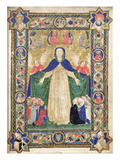 Virgin of the Misericordia, Frontispiece from a Book of Scuola Della Trinita Dei Frati Teutonici Giclee Print by Cristoforo Cortese