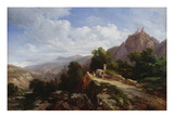 Road to Tyrol Giclee Print by Jules Coignet