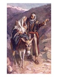 The Flight into Egypt Giclee Print by Harold Copping