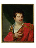 Portrait of Francois Joseph Talma (1763-1826) (Oil on Canvas) Giclee Print by Henri Francois Riesener