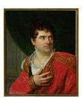 Portrait of Francois Joseph Talma (1763-1826) Giclee Print by Henri Francois Riesener