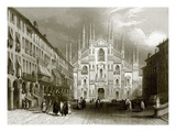 Milan Cathedral Giclee Print by  English